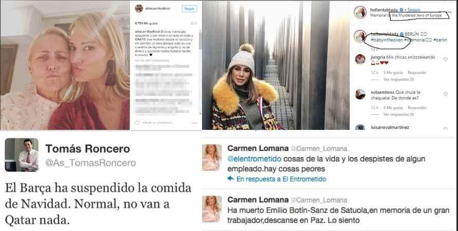 Las celebrities suelen ser las que más se equivocan, caso de Alba Carrillo o Carmen Lomana.