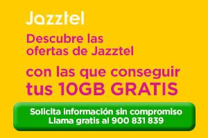 Consigue 10GB extra con Jazztel tarifas convergentes