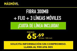 Oferta MásMóvil tarifa familiar con 3 líneas móviles