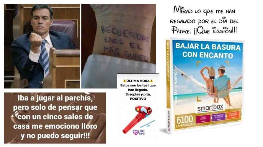 Pedro Sánchez y sus medidas, objetivo de varios memes