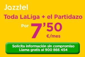 El mejor fútbol con Jazztel por 7,95€/mes