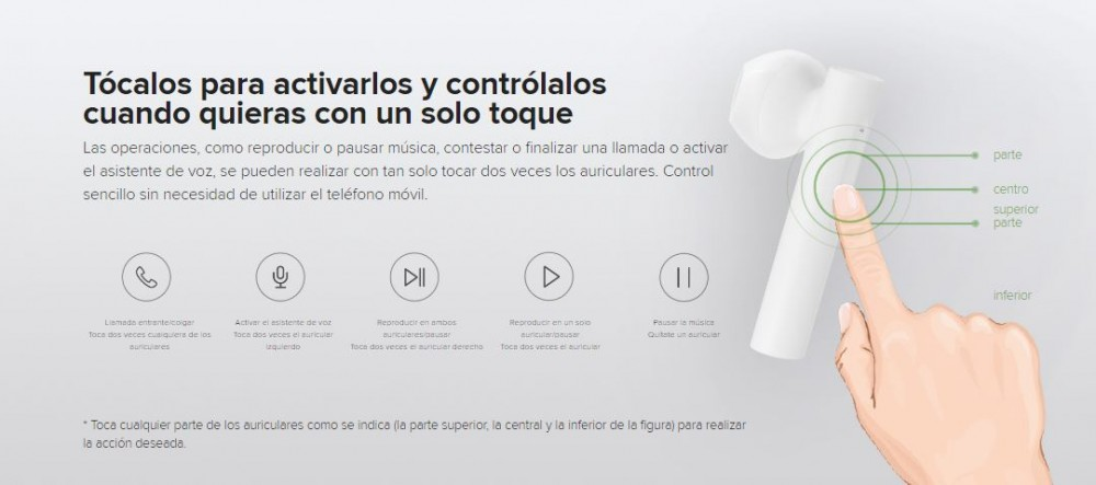 Características de los Xiaomi True Wireless Earphones 2 Basic