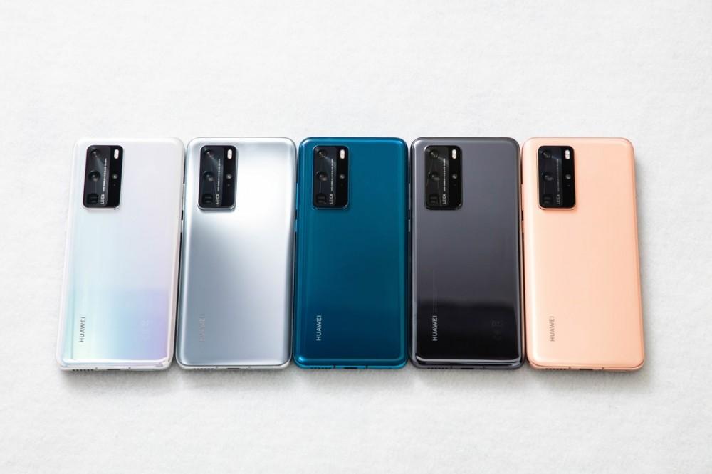 El Huawei P40 llega con diferentes tonalidades.