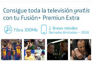 Consigue Movistar Premium Extra gratis con Fusión+ Fútbol