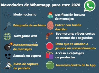 Las grandes novedades de Whatsapp en 2020