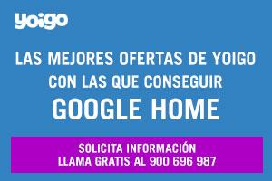 Consigue Google home con Yoigo