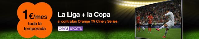 Orange Fútbol con la Liga 1|2|3, la Copa del Rey y la Liga Santander por 1€/mes