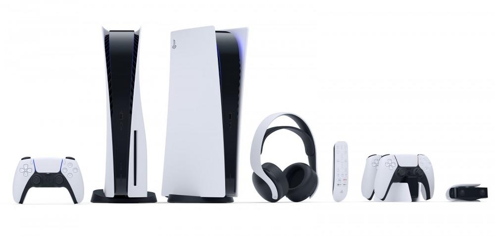 Consola PS% con sus accesorios con los que saldrá a la venta