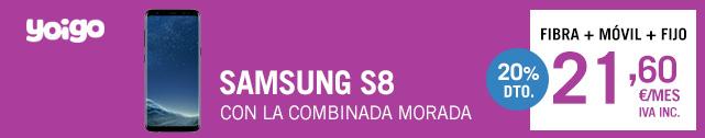 Descubre cómo conseguir el Samsung Galaxy S8 con Yoigo Combinada Morada