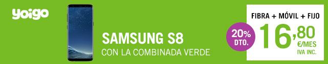 Samsung Galaxy S8 con Yoigo Combinada Morada