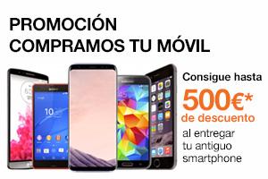 Consigue hasta 500€ de descuento al entregar tu viejo móvil
