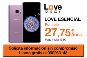 Consigue el Samsung Galaxy S9 con Orange Love Esencial