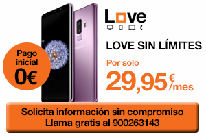 Samsung Galaxy S9 con Orange Love Sin Límites