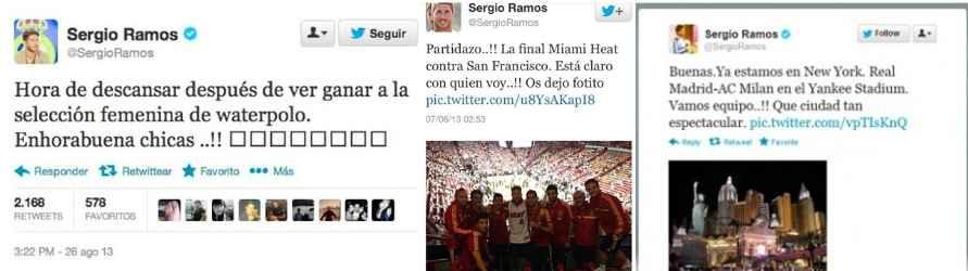 Sergio Ramos y sus errores más sonados en Twitter.