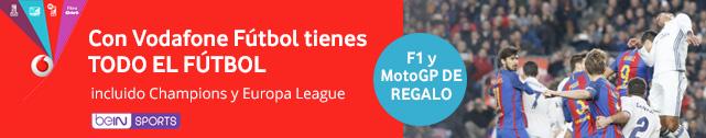 Vodafone Fútbol con Moto GP y Fórmula1 de regalo