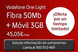 Vodafone One Light nueva tarifa low cost fibra + móvil