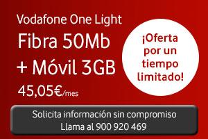 Vodafone One Light nueva tarifa low cost fibra + móvil
