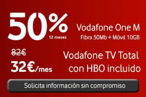 Vodafone One M 50% de descuento durante 12 meses